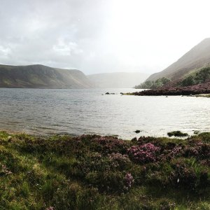 Clouds and light over Loch Muick on the Royal Balmoral Estate, Scotland