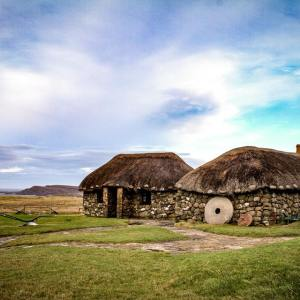 Tour Skye to visit traditional houses with thatch roofs
