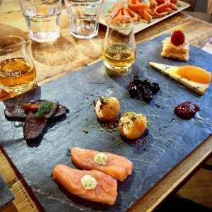 Platter of Scottish food tasters