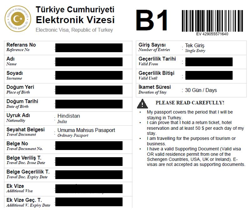 Your step by step guide to obtain Turkish eVisa for Indians - Infinitewalks  Tourist Visa for Indians