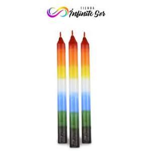 Vela larga 20 cm 7 colores