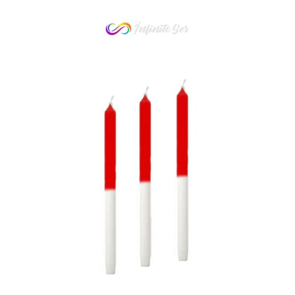 vela rojo-blanco