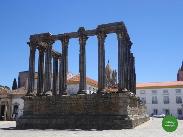 Templo romano Évora que ver en evora portugal