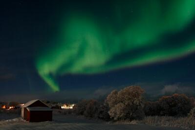 Aurora boreal desde Laukvik