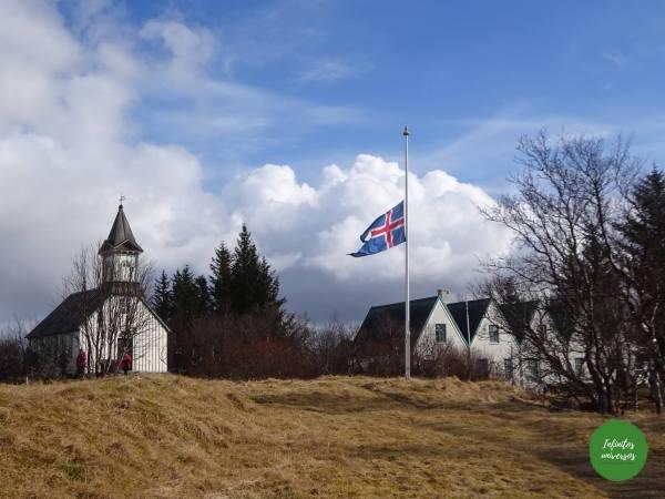 Iglesia Þingvallakirkjay granja Thingvallabaer - Círculo Dorado