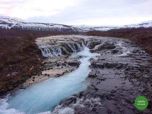 Cascada Bruarfoss Círculo Dorado de Islandia