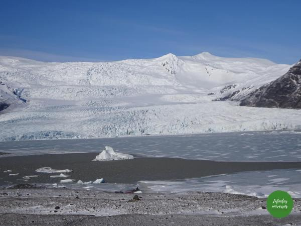 Lago glaciar Fjallsárlón Jökulsárlón