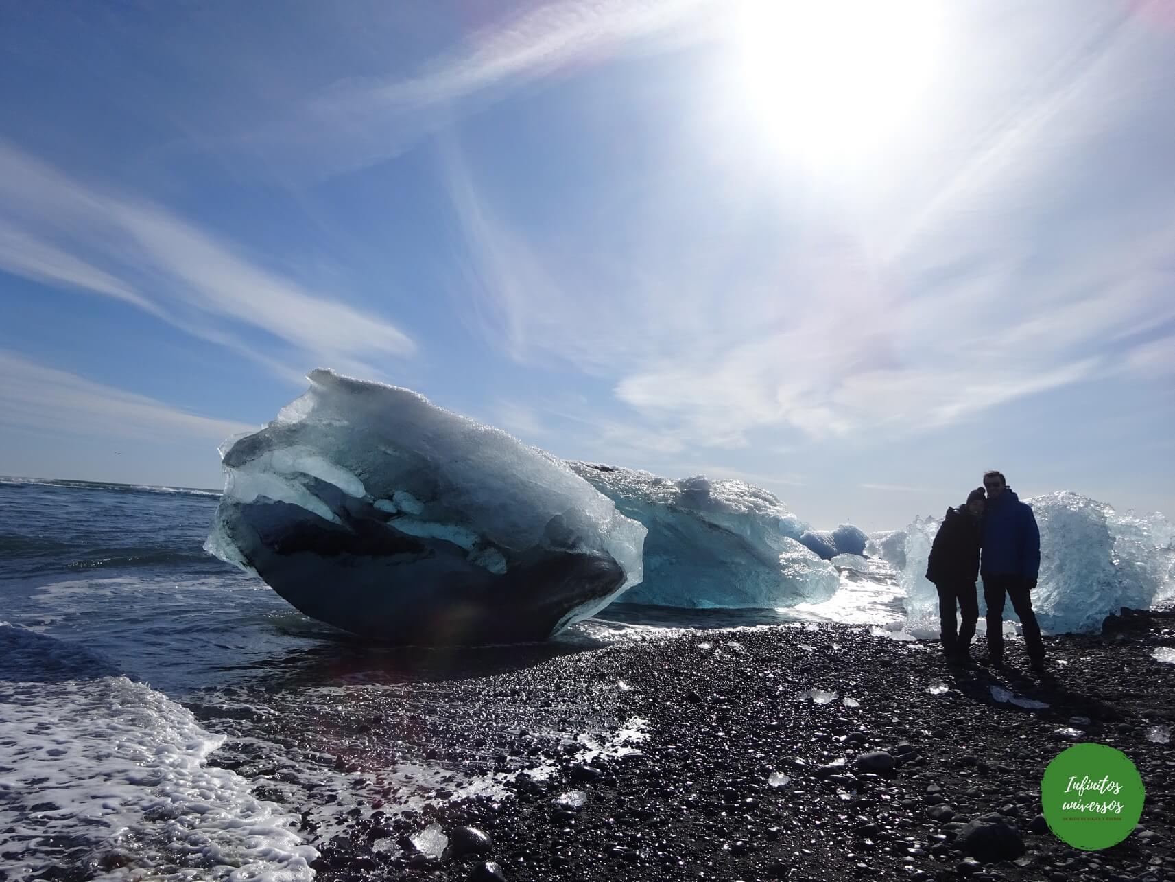 Playa de los Diamantes islandia Lago glaciar Jökulsárlón viajes a islandia