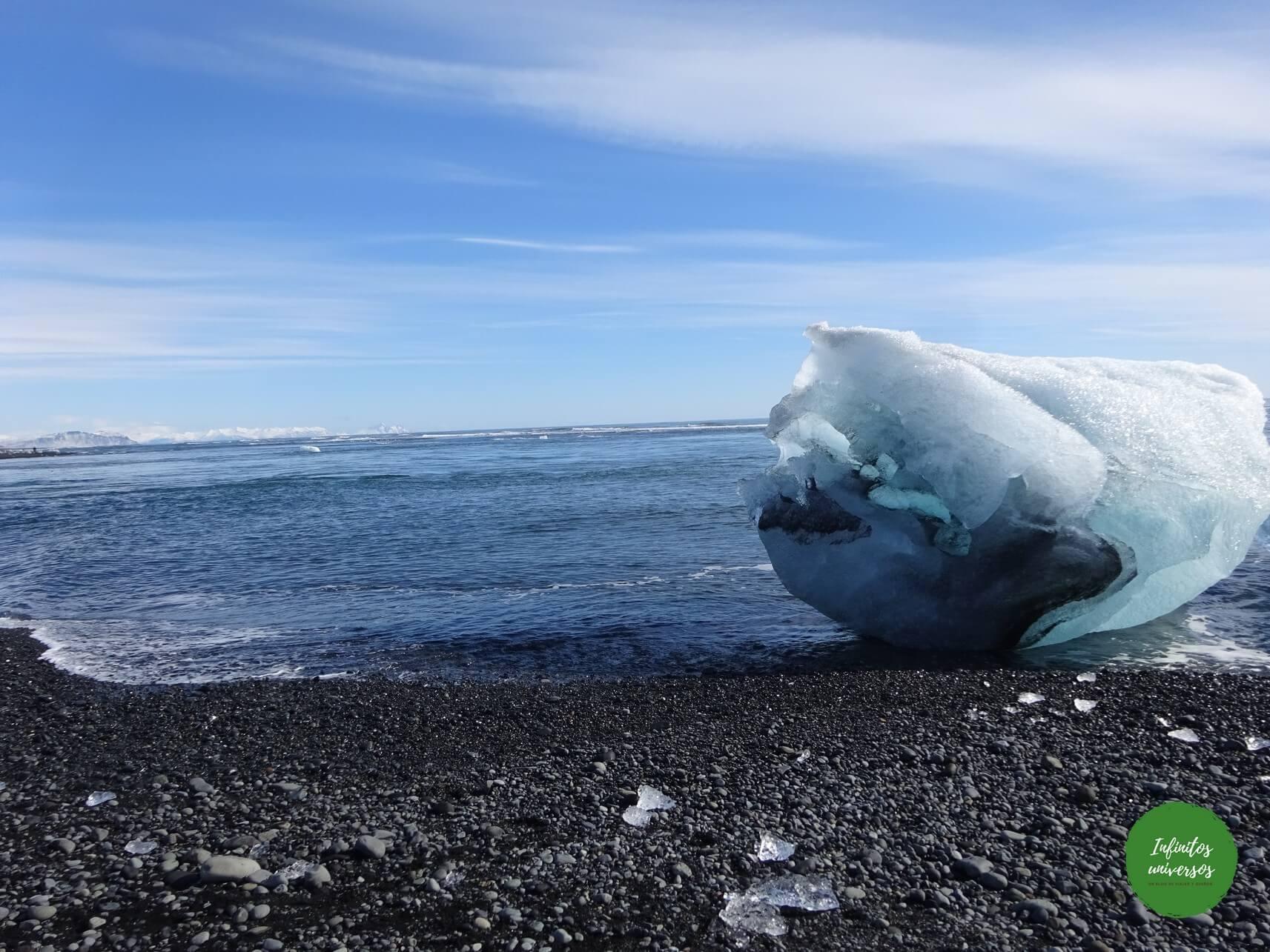 Icebergs en la playa de los diamantes excursiones desde reikiavik excursiones en islandia