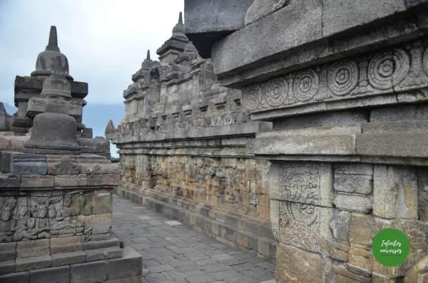 Borobudur, paneles de relieve