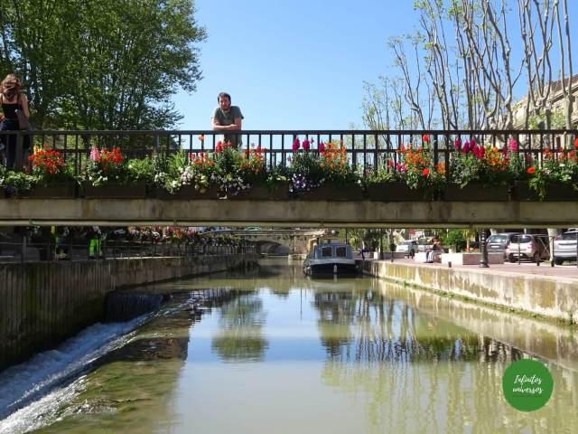 El canal de la Robine en Narbona