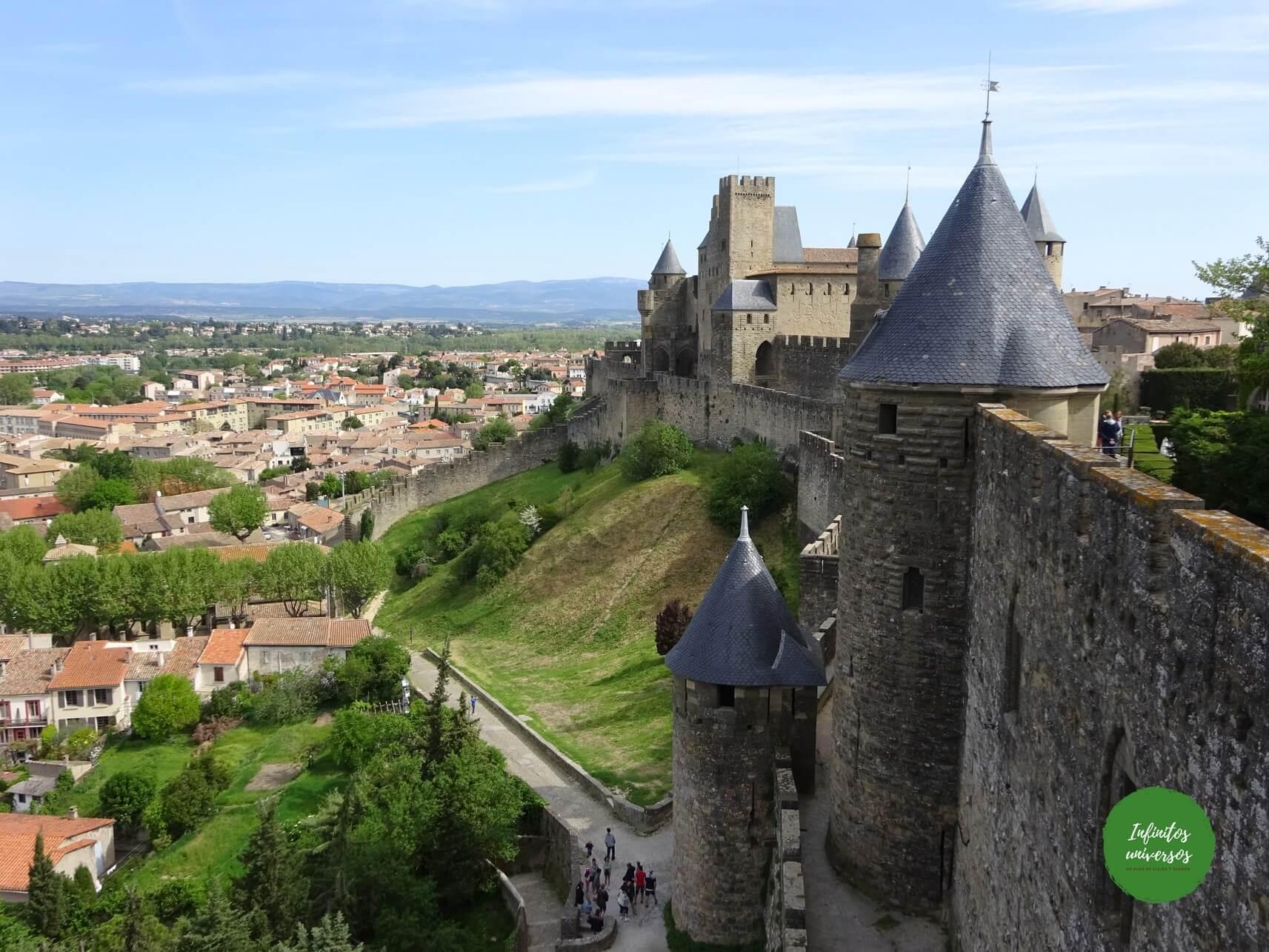 Murallas de Carcassone sur de francia en 10 dias mapa sur de Francia
