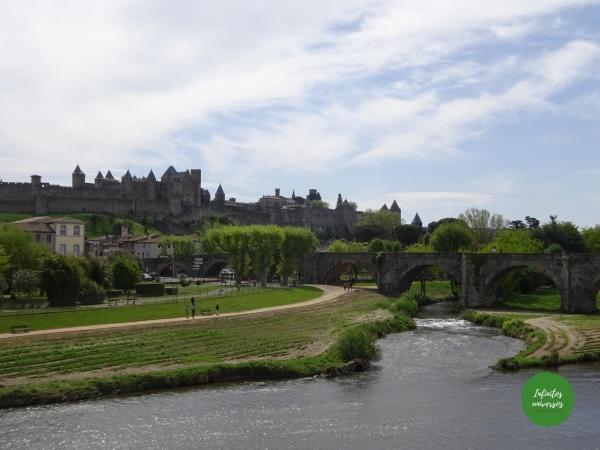 Puente Viejo Qué ver en Carcassonne mapa