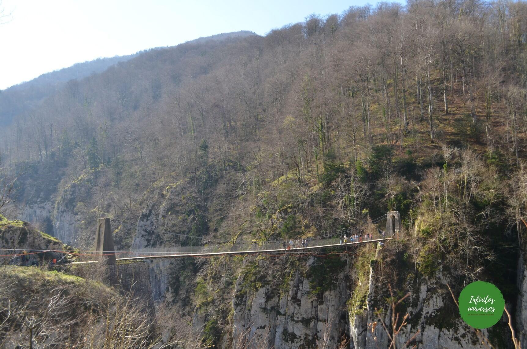 Holtzarte ruta puente colgante de holtzarte pasarela de holtzarte y garganta de kakueta