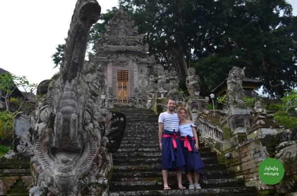 Pura Gunung Kawi Tirta Empul el templo madre de Besakih, la cascada Tukad Cepung el templo Pura Kehen Penglipuran y su bosque de bambú bali indonesia