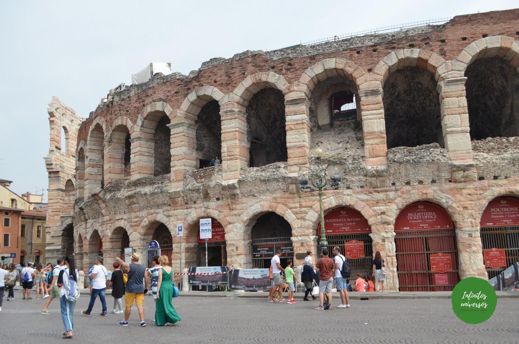 Arena de Verona - Que ver en Verona - Europa en verano