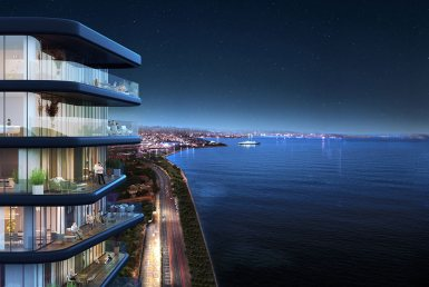 شقق للبيع في اسطنبول مطلة على البحر في مجمع 7Mavi