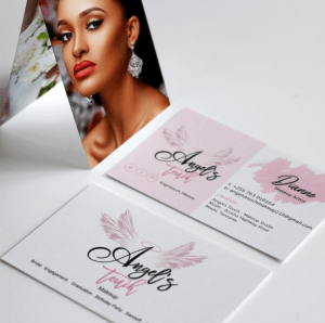 Angels touch makeup business card