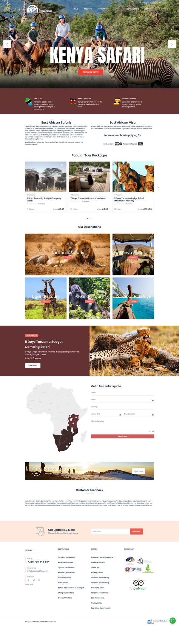 Visa Expeditions Website