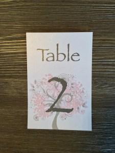 Table Number Weddings, Invitations, Stationary