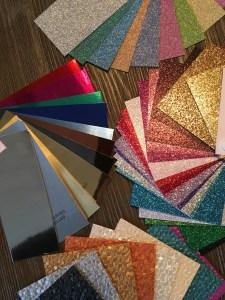 Glitter, Mirror and Textured Yardstick Weddings, Invitations, Stationary