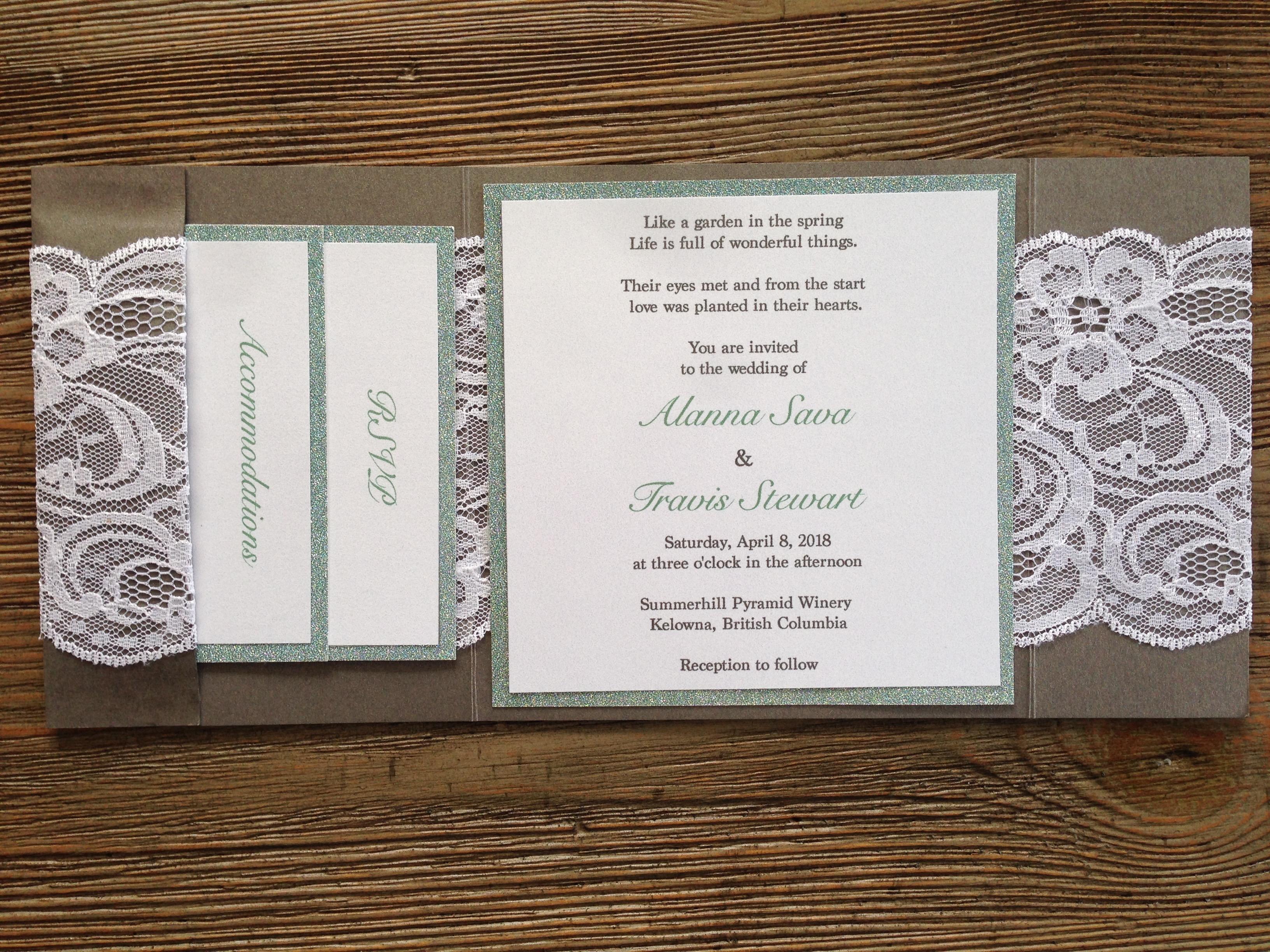 Rustic Elegance Wedding Invitation