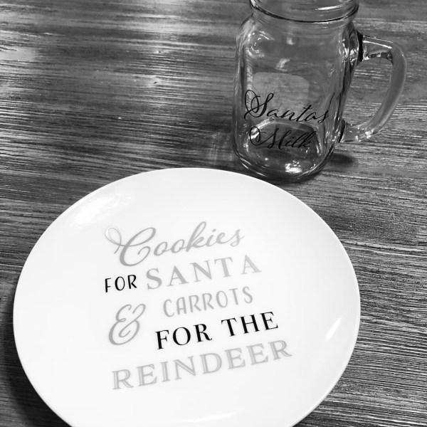 Santa Plate & Santa Milk