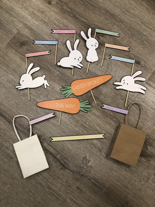 Easter Bunnies, Carrots and Flags