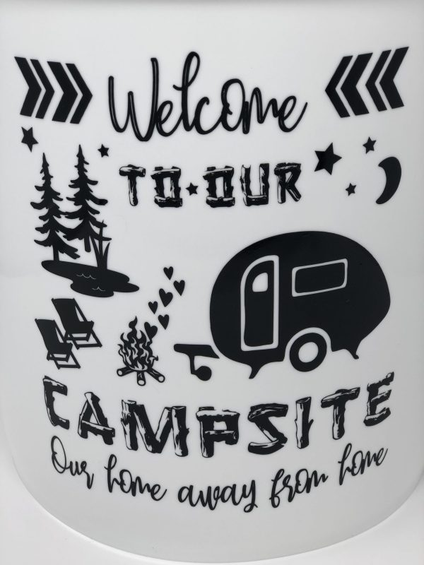 welcome to our campsite our home away from home vinyl decal