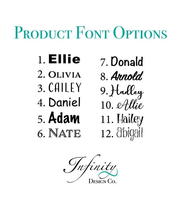 Product Font Options