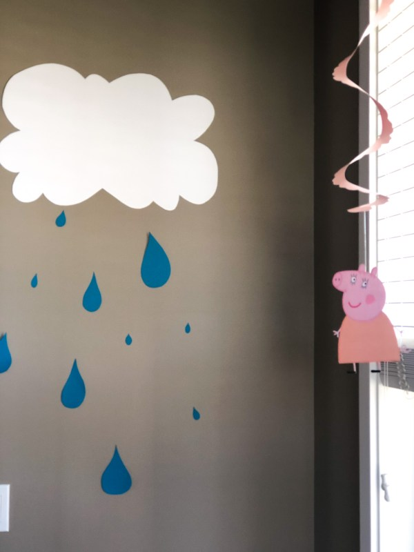 Rain Drops Clouds Decoration