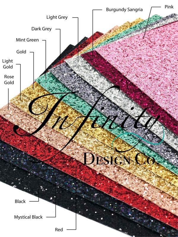 Faux Chunky Glitter Leather Swatches