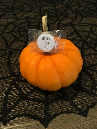 Pumpkin Mint Wedding Favour