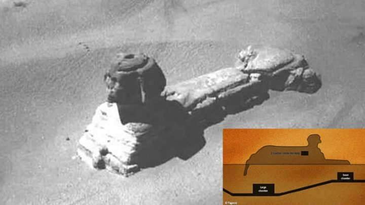 A secret chamber below the Sphinx : Image shows possible entry into the Great Sphinx of Giza