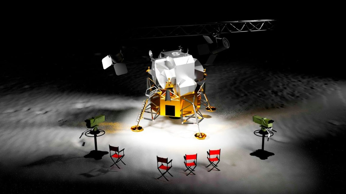 moon landing was fake ? Another New and Revealing Test