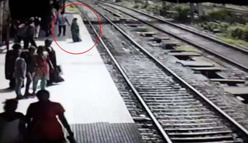 Terrified passengers say the ghost of a woman disappeared after jumping in front of a train