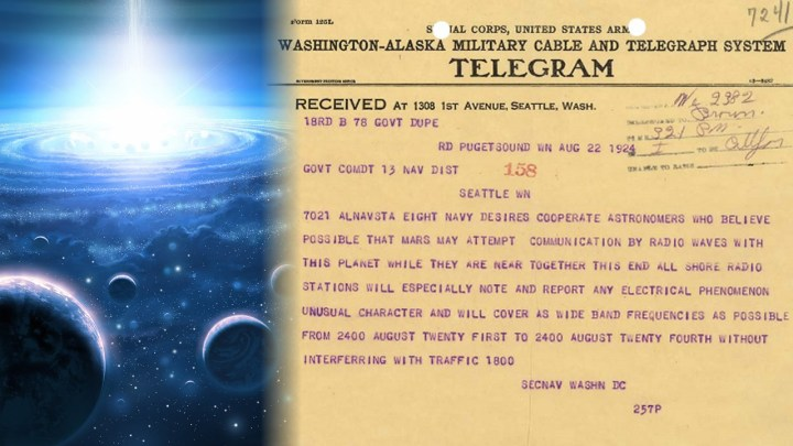 Extraterrestrial Radio Emissions received by The US navy in year 1924