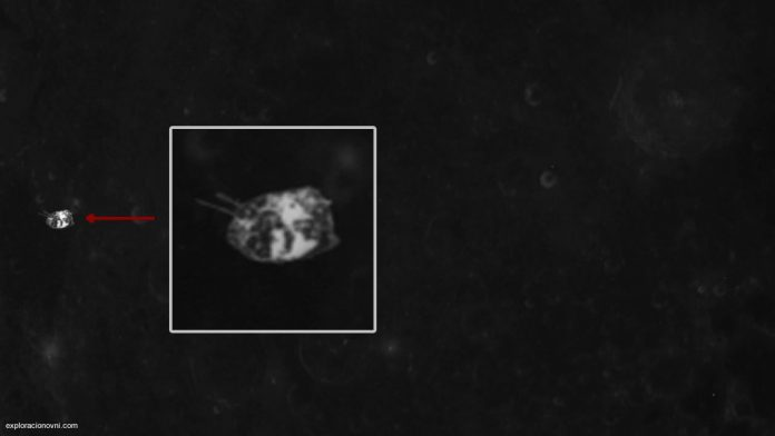 Alien spacecraft spotted on surface of the moon