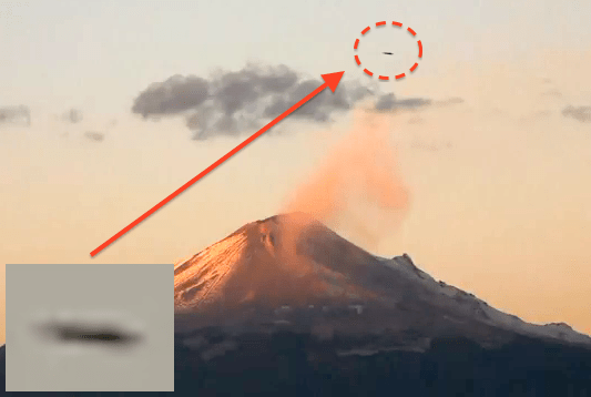 Do aliens use volcanoes as an energy source for their UFOs?