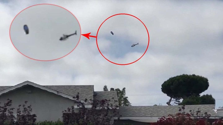 Shocking video shows a Los Angeles police helicopter intercepting a UFO over Los Angeles