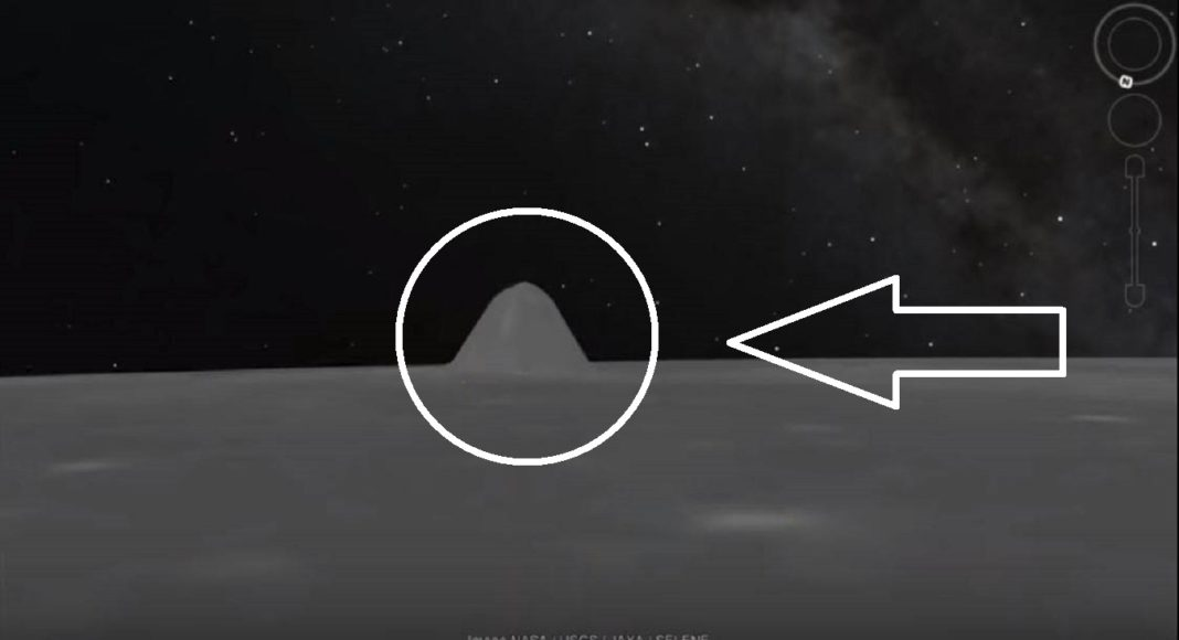 """Google Moon reveals a strange """"Pyramid"""" on the lunar surface"""