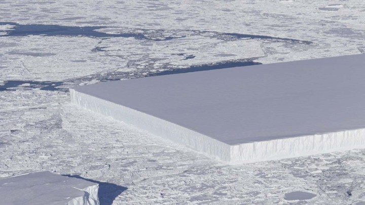 Another rectangular iceberg photographed in Antarctica comes to light