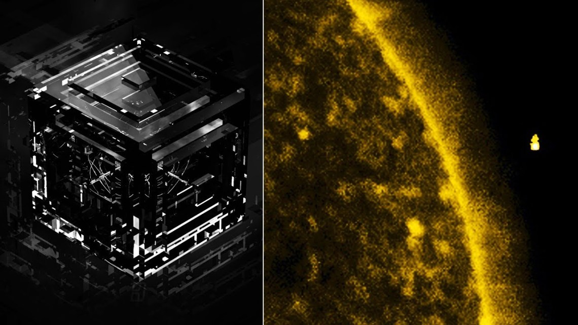 The mysterious UFO Cube (the size of the Earth) captured returning to the Sun