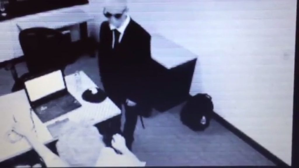 "Supposed ""Man in Black"" captured in video kidnapping a person"