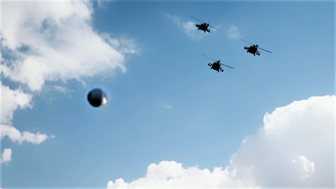 UFO over Los Angeles : Three black helicopters recorded next to a UFO