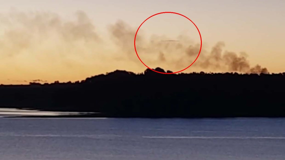 A woman records an amazing UFO on a lake in Australia