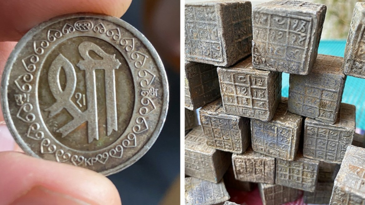 60 Mysterious Cubes With Sacred Inscriptions Found In A River In Coventry