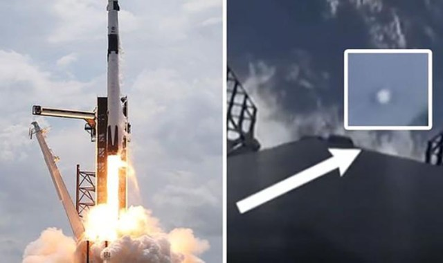UFOs appeared during SpaceX Launch