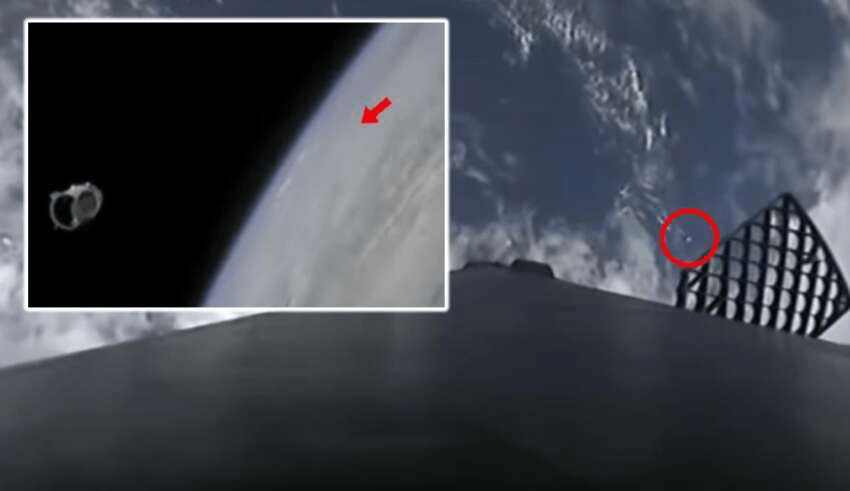 Multiple UFOs appeared during SpaceX Launch
