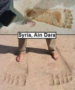Ain Dara's Giant Footprints
